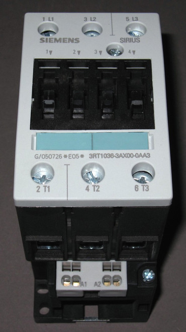 3RT1036-3AX00-0AA3 - 400V 22kW Contactor - Coil 27VAC 50Hz (Siemens)