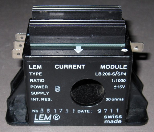 LB200-S/SP4 - 200A Current sensor / transducer (LEM) - Used