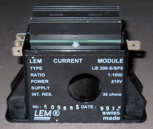 LB200-S/SP9 - 200A Current sensor / transducer (LEM) - Used