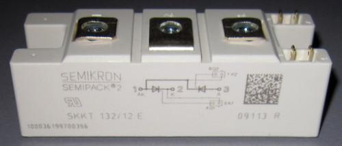 SKKT132/12E - 1200V 132A dual SCR/Thyristor module (Semikron)