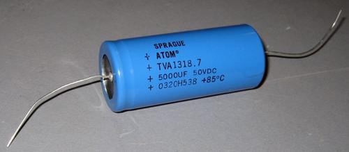 TVA1318.7 - 50VDC 5000uF Aluminum Electrolytic Capacitor (Sprague)