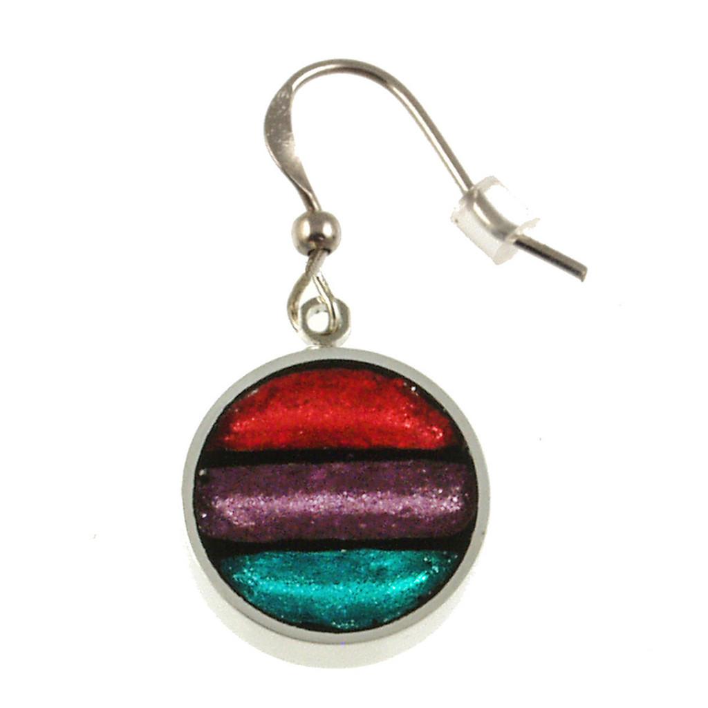 2162-2 - Gradient Earrings Rainbow