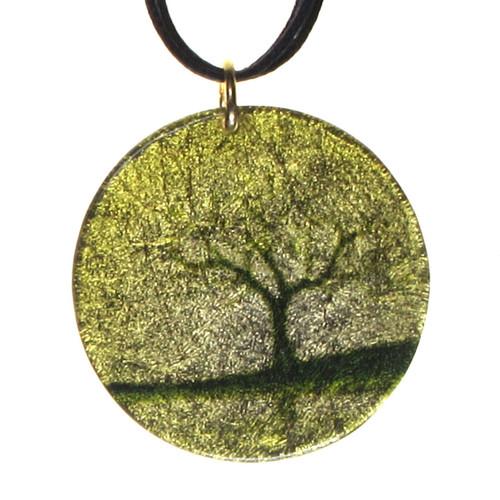 4130-106 - Golden Tree Pendant  On Cord