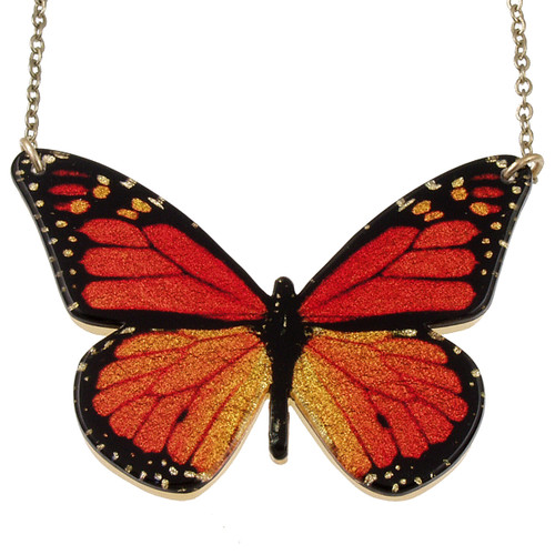 "4127-1 - Full 2"" Monarch Butterfly Pendant"