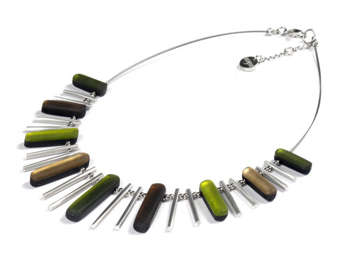 1635-3 - Forest Sticks Necklace with Shell