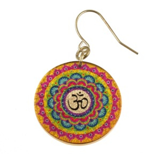 4120-133 - Multi Color Om Earring