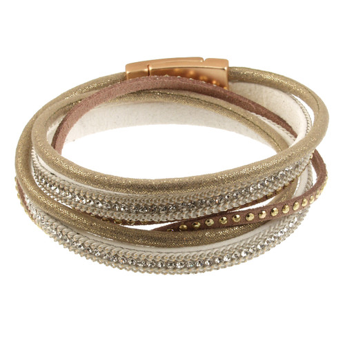 6670-2 - Glitter Wrap Gold/Taupe