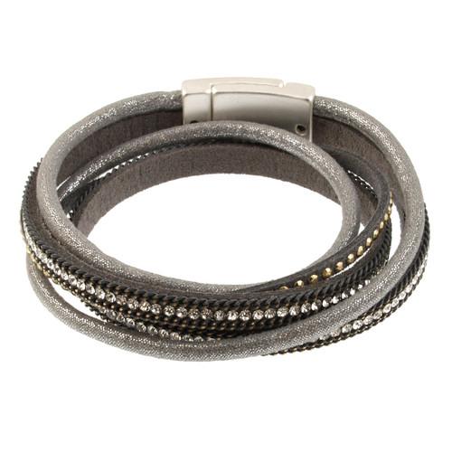 6670-1 - Glitter Wrap Silver/Grey