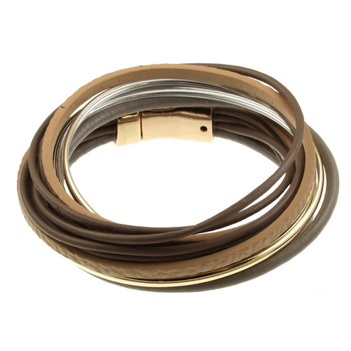 6180-87 - Spaghetti Wrap Taupe/Brown