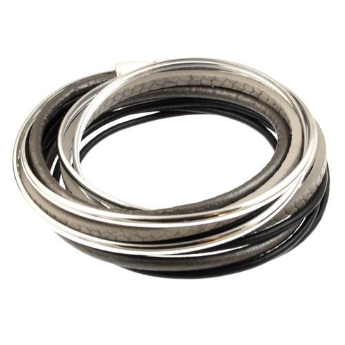 6180-4 - Spaghetti Wrap Black/Grey/Silver