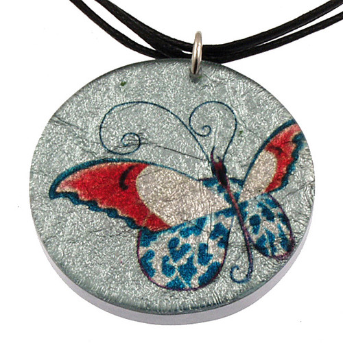 4130-23 - Butterfly Pendant on Cord