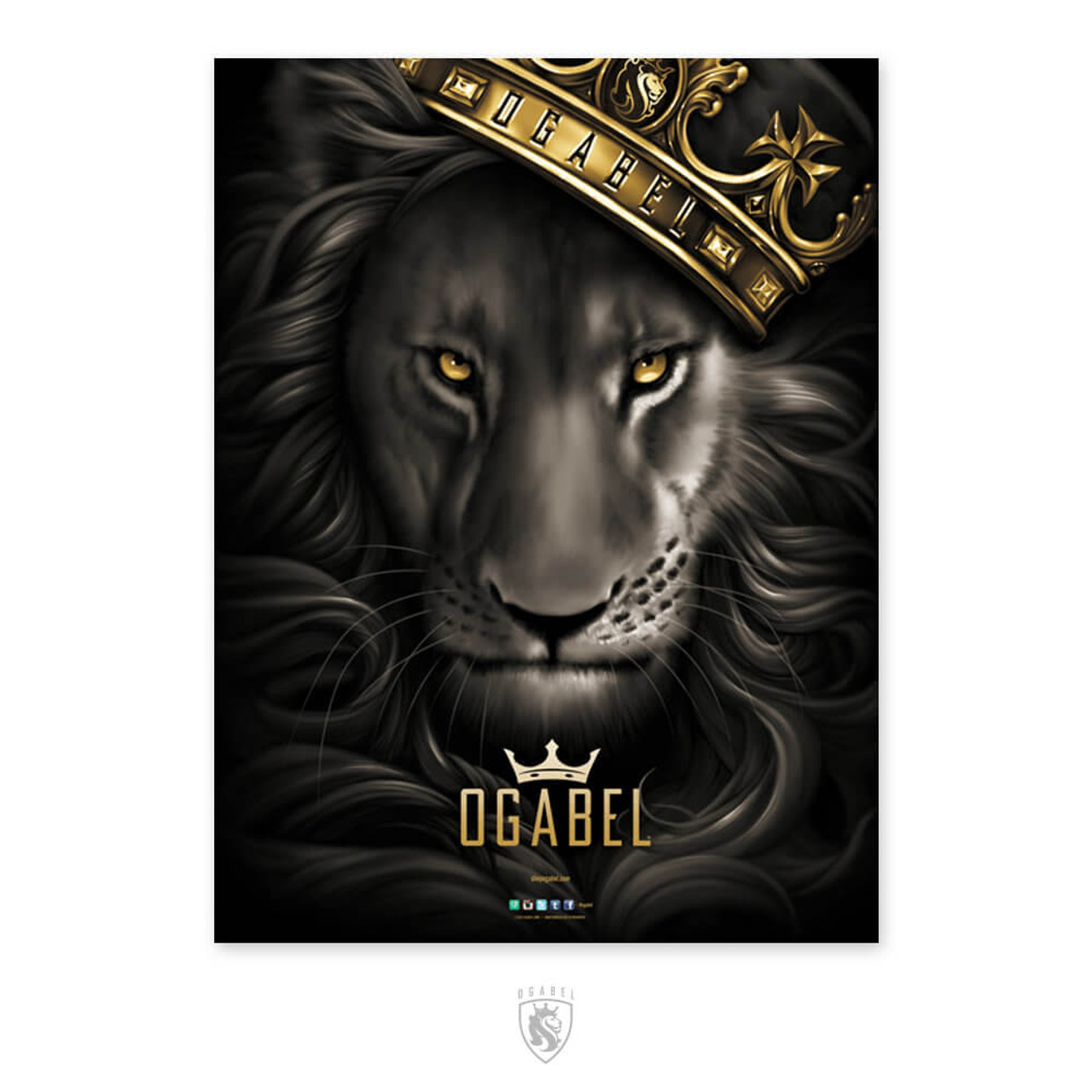 "Lion With Crown Wallpaper Lion With Crown Tattoo Design: OG Abel ""Fierce"" Poster"