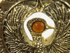 Staff of RA Headpiece, Antique Gold, Solid Metal, Amber Jewels