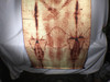 Shroud of Turin Full Size Body Sepia on Linen Cloth 6 x 3 feet with Free Book