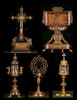 Historical Crucifix With Roman Nails, Crown of Thorns, Titulus Crucis and Free Book