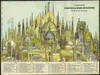 Pictorial Map of the Principal High Buildings of the Old World in 1884, Color 78 Classic Monuments in all