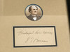 P.T. Barnum Framed Ink Signature, PSA/DNA Pre-Certified