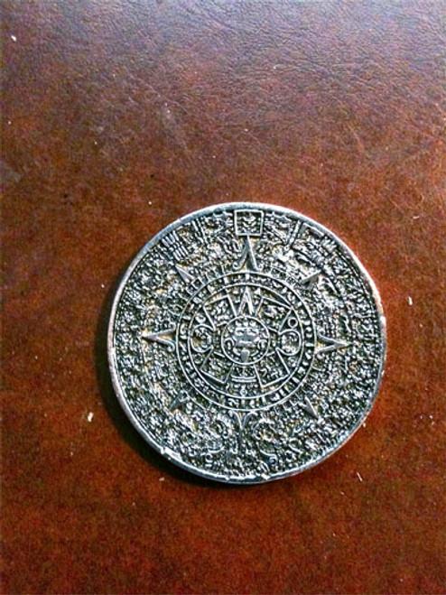 ancient mayan aztec inca calendar coin silver metal