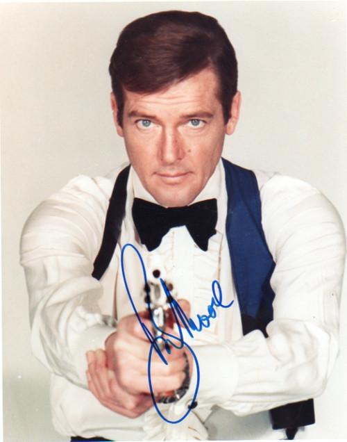 007 James Bond, Roger Moore Autographed Photograph, Type 1