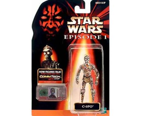 Star Wars Ep 1 Phantom Menace C3PO CommTech Fig, New