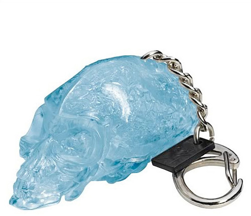 Indiana Jones Crystal Skull Light Up Keychain, New