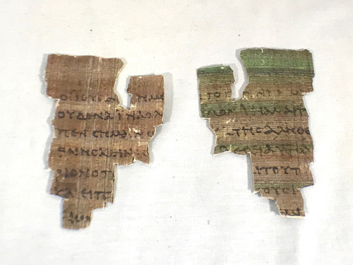 St John Fragment or Papyrus 52 the Oldest New Testament Piece Papyrus Replica