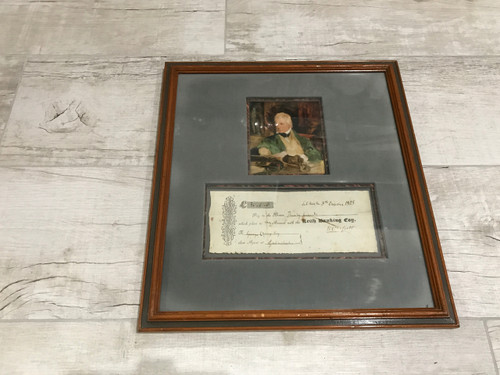 Sir Walter Scott Signed Bank Check, PSA/DNA Authenticated