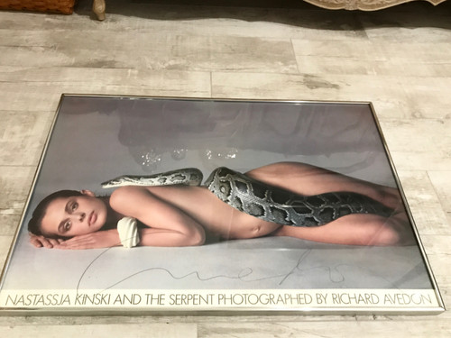 Framed Signed Avedon Poster Nastassja Kinski and the Serpent, PSA/DNA Authenticated