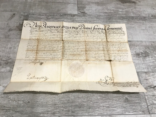 Joesph II, Holy Roman Emperor, 1766 Document Signed, PSA/DNA Authenticated
