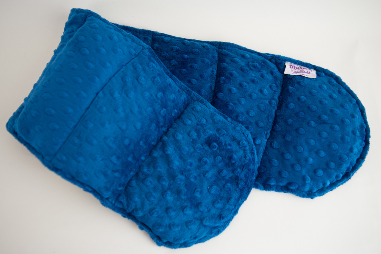 Weighted shoulder wraps by mosaic weighted blankets royal blue minky weighted shoulder wrap 35 lbs nvjuhfo Image collections