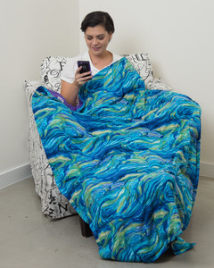 Starry Night Cotton Weighted Blanket