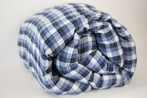 Brushed Denim Plaid Cotton Weighted Blanket 42X72""