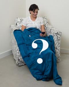 "Grab Bag Blanket - LARGE 42 X 72""  Cotton Adult L / Teen XL"