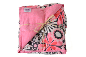 Retro Flowers 100% Cotton Weighted Blanket
