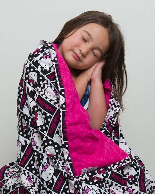 Hello Kitty with Hot Pink Weighted Blanket for Girls