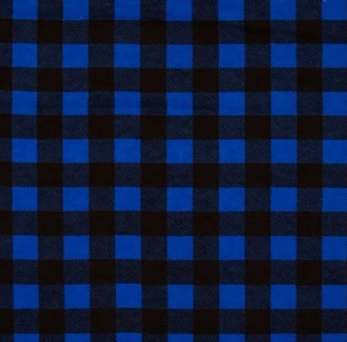Royal Blue Plaid 100% Cotton flannel