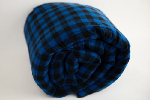 Royal Blue Plaid 100% Cotton flannel