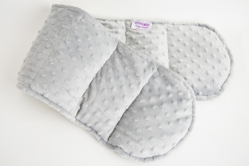 Gray Minky Weighted Shoulder Wrap 3.5 lbs