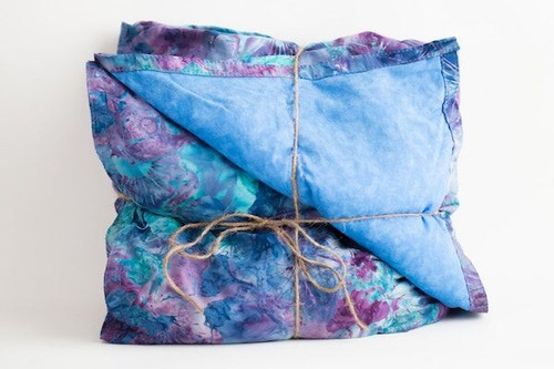 Purple Ginko and Blue Batik