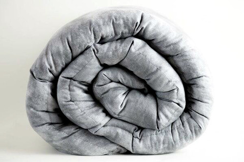 "Lunar Grey 100 %  Cotton Mosaic Weighted blanket 42x72"" IN STOCK AND READY TO SHIP: 12, 15, 18, 20 lbs"