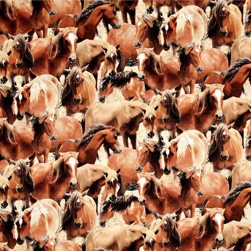 Crazy for Horses 100% Cotton Weighted Blanket