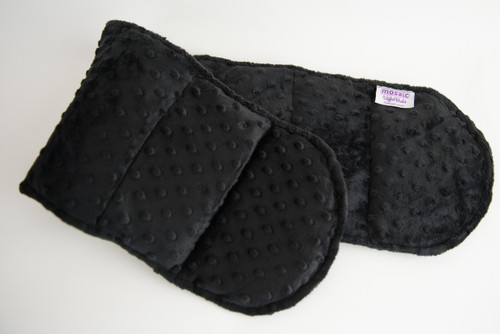 Black Minky Weighted Shoulder Wrap 3.5 lbs