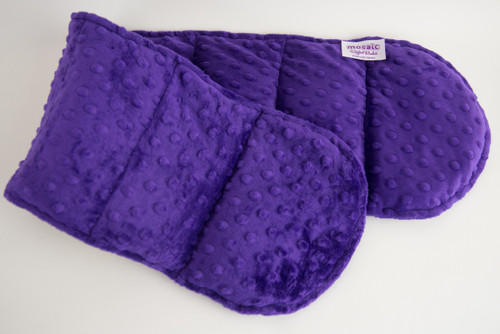 Purple Minky Weighted Shoulder Wrap 3.5 lbs