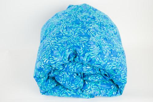 Laurel Blue Batik Cotton Weighted Blanket, Adult/ Teen