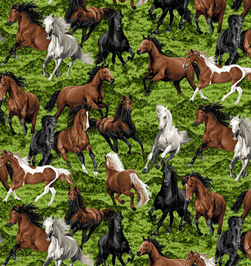 Frolic -  Horse print 100% Cotton Weighted Blanket  starting price: