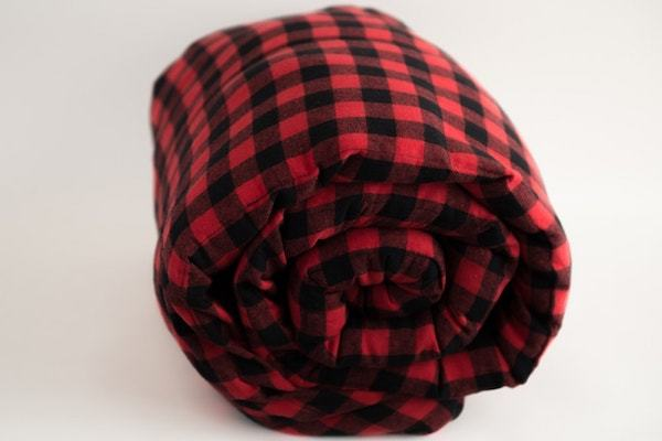 Big Red Plaid Weighted Blanket