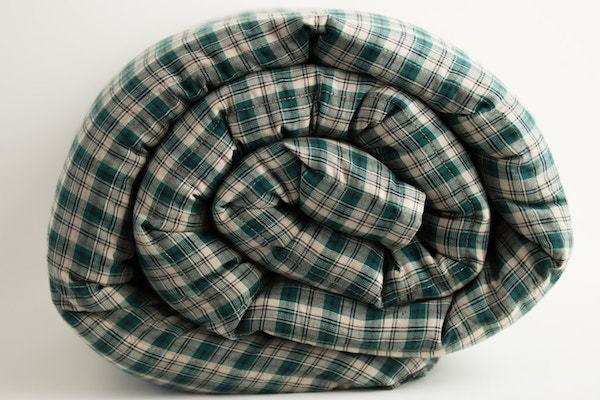 Green Khaki Plaid  Weighted Blanket