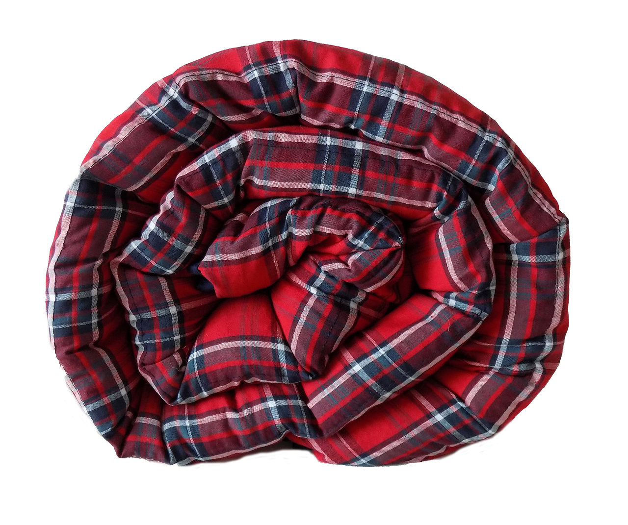 Red & Blue Plaid Weighted Blanket