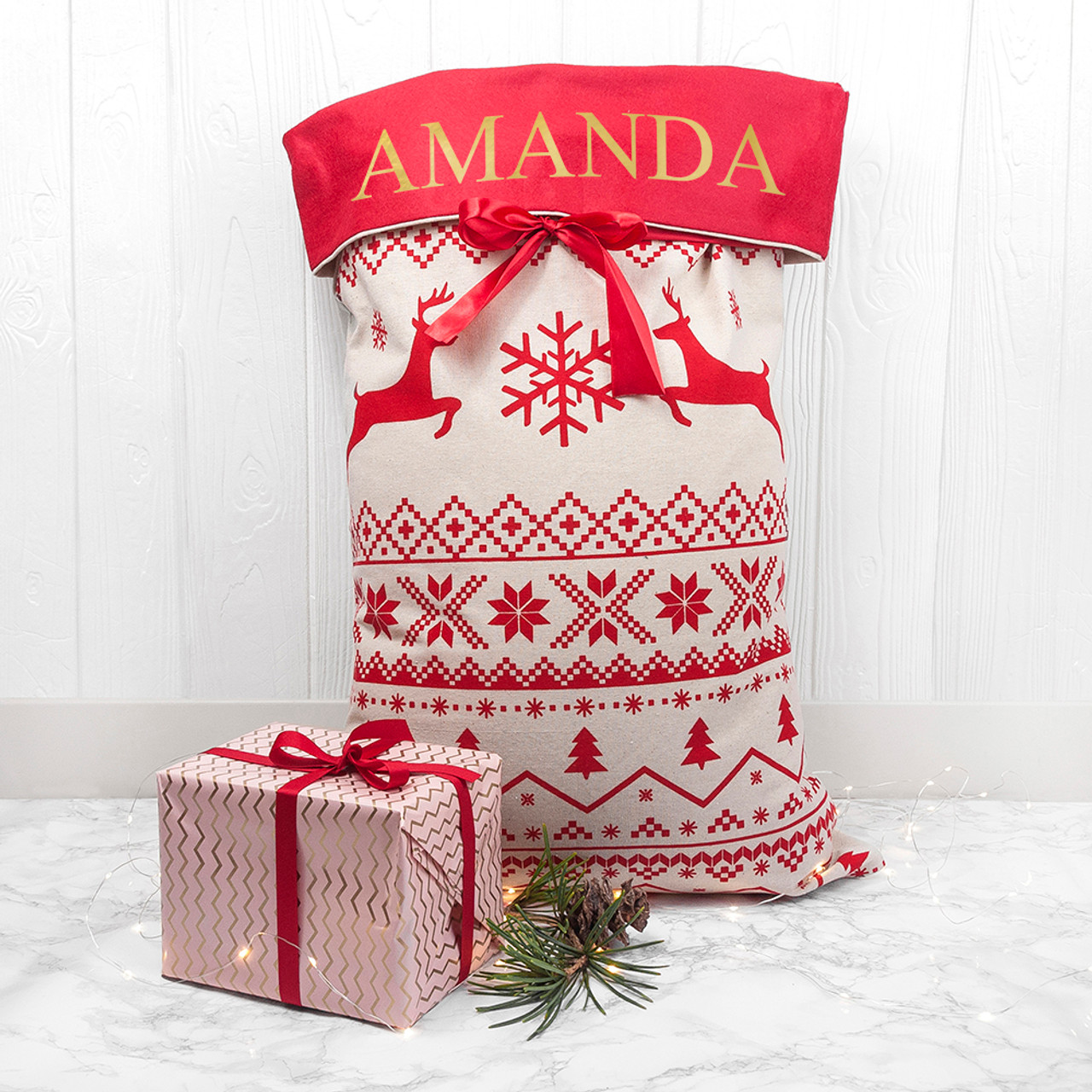 this beautifully crafted christmas present sack is the perfect