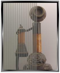 Geometric 1/8th Inch Silver Vertical Stripes - DIY Decorative Window Film